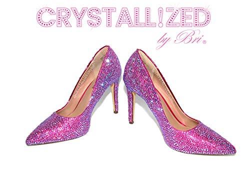 Custom Made Swarovski CRYSTALLIZED High Heel Pumps Bling Crystals
