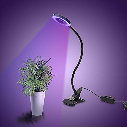 Horifen Erstellbar 10W LED Pflanzenlampe Wachstumlampe 2-Stufe Helligkeit für Zimmerpflanzen Hydroponik Gewächshaus LB-DE001