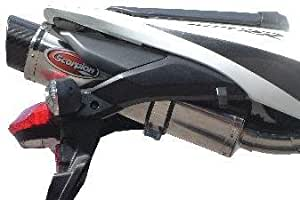 Scorpion Carbon Extreme Muffler - Oval - Satin Titanium Muffler - Carbon Fiber End Cap HA92TIOC