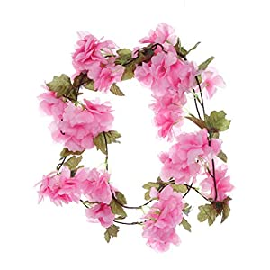 Iusun Artificial Flower Leaf Cherry Blossom Berries for DIY Floral Wedding Bouquet Centerpieces Arrangements Party Festival Holiday Home Plant Decorations Valentines Gift Hot Ornament 35