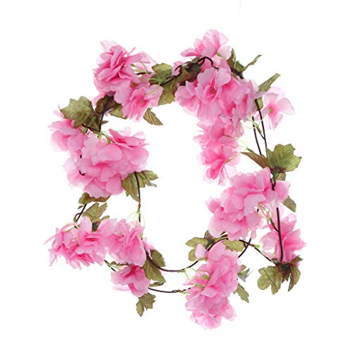Iusun Artificial Flower Leaf Cherry Blossom Berries for DIY Floral Wedding Bouquet Centerpieces Arrangements Party Festival Holiday Home Plant Decorations Valentines Gift Hot Ornament
