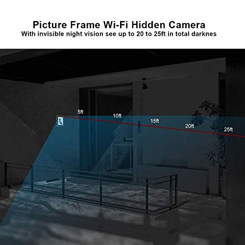 Spy Camera Wireless Hidden - Hidden Camera WiFi Photo Frame - Nanny Cams with Cell Phone APP - 720HD Night Vision & Motion Detection 365 Days Battery Powered Standby Instant Alerts for Indoor Security by NIGHT WELL (Image #4)