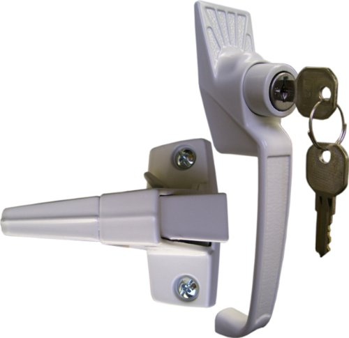 Ideal Security Classic Push-Button Handle Set with Key lock (White)
