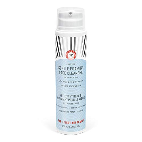 First Aid Beauty Pure Skin Gentle Foaming Face Cleanser with Amino Acids, 6.5 oz ()