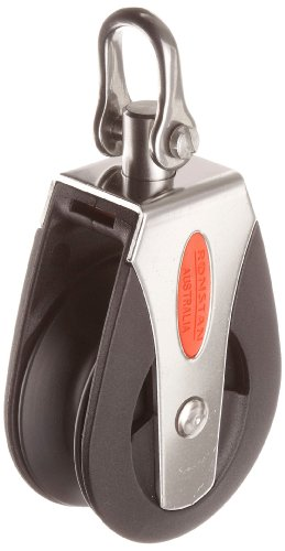 - RONSTAN RF50100HL Single Pulley with Swivel Shackle Head, 3310 Capacity, 1/2