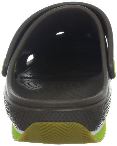 Adulte volt Clog Crocs Retro Green pewter Mules Mixte Gris qWvIOx