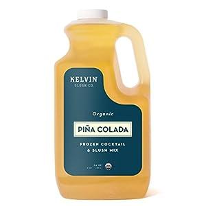 KelvinOrganic Frozen Cocktail & Slush Mix (Piña Colada) – Bottle 64 oz –Award-WinningSlush Machine & Blender Mix, Bars, Restaurants, At Home Mix
