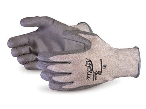 Cut Resistant Work Size 11 13 Gauge Thickness Pack of 1 Pair Superior S13FGPU Superior Touch Dyneema//Fiberglass//Nylon String Knit Glove with Polyurethane Coated Palm Superior Glove Works Ltd S13FGPU-11