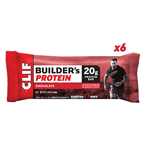 CLIF BUILDER'S – Protein Bar – Chocolate – (2.4 Ounce Non-GMO Bar, 6 Count)
