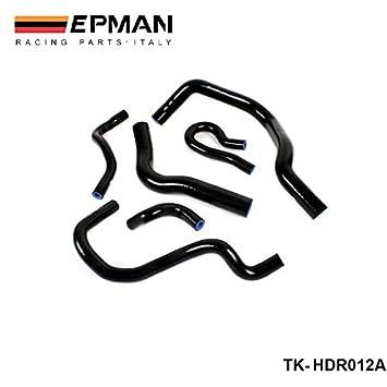 Kit EPMAN-turbo intercooler de silicona manguera de radiador de alta temperatura tuberías para Honda Civic EG4 B16A TK-HDR012A: Amazon.es: Coche y moto