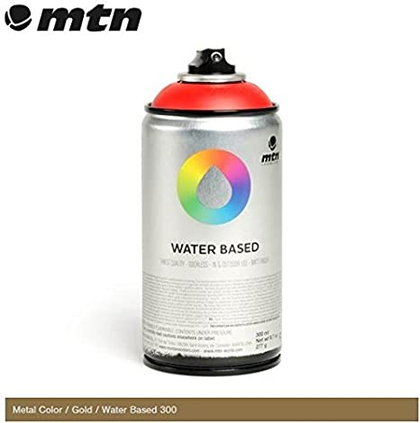 Mtn Metal Colour Gold 300ml Water Based Spray Paint By Mtn
