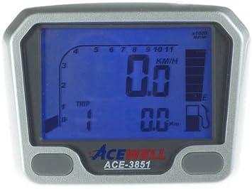 Acewell Ace 3851 Quad Atv Tachometer Mit Drehzahlmesser Und Kraftstoffanzeige Speziell Für Den Yamaha Yfm660r Und Yfm700r Raptor Auto