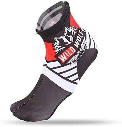 自転車靴カバー パーソナライズされた自転車の靴のカバー、自転車の靴のカバー、多機能防水と防風靴のカバー、屋外スポーツ靴のカバー 雨や雪の日に適しています (Color : Fire wolf shoe cover, Size : XL)
