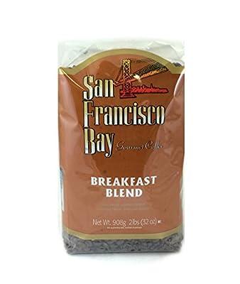 San Francisco Bay Coffee Whole Bean, Breakfast Blend, 32 Ounce