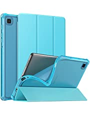 MoKo Case Fits Samsung Galaxy Tab A7 Lite 8.7 Inch SM-T225/T220/T227, Slim Lightweight Smart Case Trifold Stand Case with Soft TPU Translucent Frosted Back Shell for Galaxy Tab A7 Lite – Peacock Blue