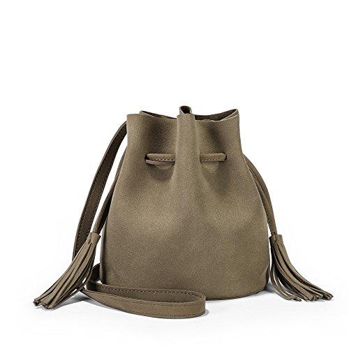 Bag Bags Bags For Crossbody Light Simple Girls Shoulder Tassel Ladies Wild Retro Tan Handbag Bucket a5qZ4Z
