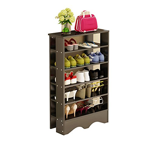 5 Tier Solid Wood - Soges Shoe Racks 5 Tiers Solid Wood Shoes Storage Shelf Free Standing Shoes Organizer Black, L15-B