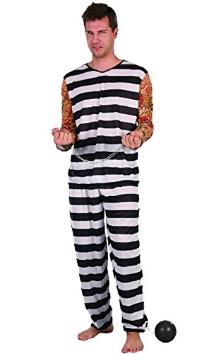 Rimi Hanger Adults Halloween Party Jail Bird Costume Mens Fancy Dress Party Wear Outfit One Size
