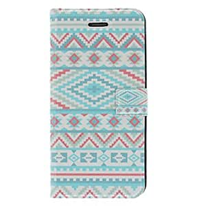 Fragrant Smell Blue Tones Ethnic Pattern Full Body Case with Matte Back Cover and Stand for iPhone 5/5S