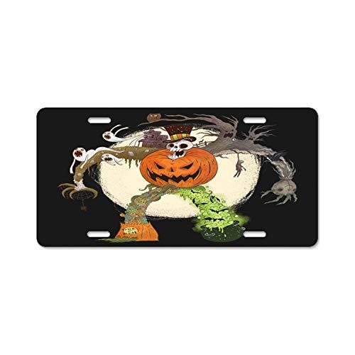 Gndishangd License Plate Frame - Mister Halloween - Car License Plate Holder Tag for -