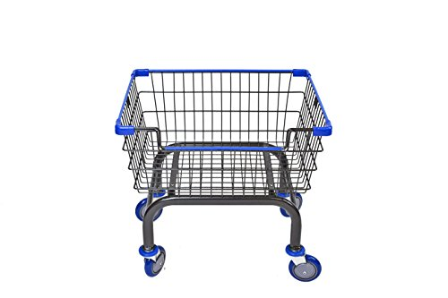 Cart&supply Coin Laundry Cart, Laundry Cart[Charcoal]without Pole Rack (BLUE) by CART&SUPPLY
