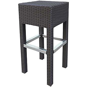 Abba Patio Outdoor Wicker Barstool Patio Furniture Bar Stool, 14.2u0027u0027L X 14.2