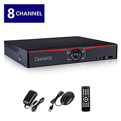 CANAVIS 8 Channel 720P 1080N CCTV DVR Hybrid AHD DVR (1080P NVR+1080N AHD+960H Analog+TVI+CVI) Standalone DVR CCTV Surveillance Security System Video Recorder No HDD,Cameras Not Included