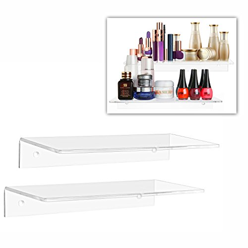 12 inch floating glass shelves - 3
