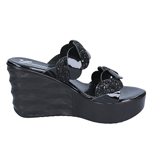 SUSIMODA Para negro de Sandalias Vestir Mujer q6rnATqBxw