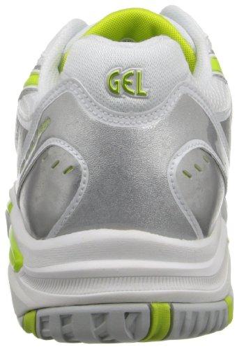 Asics Womens Gel-challenger 9 Scarpe Da Tennis Argento / Neon Lime / Bianco