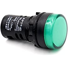 Baomain LED Indicator Pilot Light AD16-22D AC 110V 20mA Energy Saving Green 2 Pack