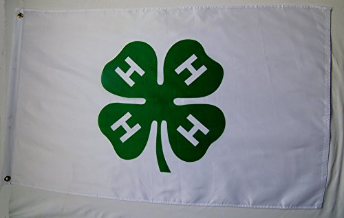 4 H Club Flag 3' X 5' Indoor Outdoor AG Banner 4 H Flags