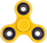 Fidget Spinner Prime (MANY COLORS AND DESIGNS) Toy Stress Reducer Bearing - Perfect For ADD, ADHD, Anxiety, and Autism Adult Children (BlackX)