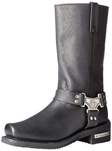Milwaukee Motorcycle Clothing Company Classic Harness Leather Women's Motorcycle Boots (Black, Size 8C) - Milwaukee Motorcycle Leather Boots