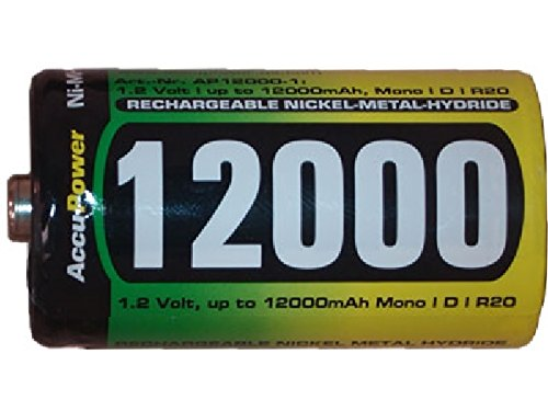 24 x D AccuPower NiMH Batteries (12000 mAh)