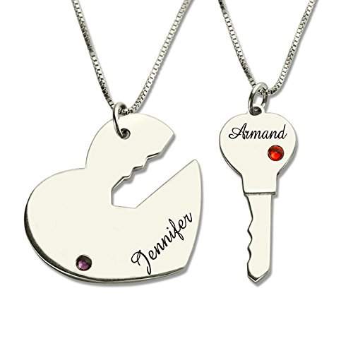 Couples Necklace Key to My Heart Personalized Name