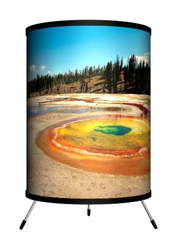 Lamp-In-A-Box TRI-TRV-YELLO Travel - Yellowstone Tripod Lamp by Lamp-In-A-Box