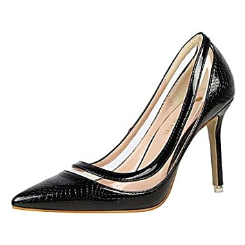 f3e5211534b FYios Women sHeels Spring Summer Fall Winter Club Shoes Comfort Patent  Leather Wedding Party