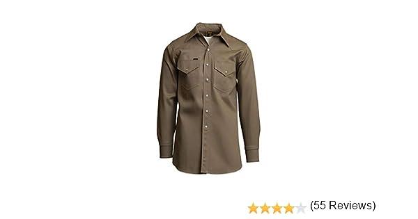 Lapco - Camisas de soldadura de peso medio, no FR, 100% algodón (tamaño pequeño, 6 XL), M Regular, caqui, 1: Amazon.es: Amazon.es
