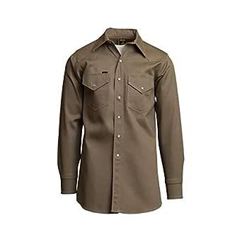LAPCO fr 850-xl-reg mid-weight soldador de camisas, 100% algodón, 8,5 oz, XL largo, caqui (no resistente al fuego): Amazon.es: Amazon.es
