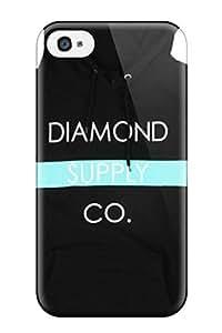 Excellent Design Exclusive Diamond Supply Co Bar Hoodie Black Phone Case For Iphone 4/4s Premium Tpu Case