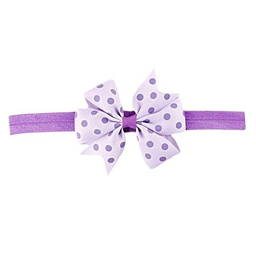 Lurryly Hair Accessories Sweet Baby Girl's Gift Chiffon Princess Bow Flower Headband ()