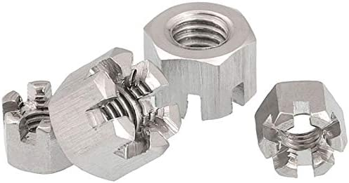 Size : M12 2PCS CHENHAN Hex Nut 5//2pcs M6 M8 M10 M12 M14 M16 Connecting Rod Wheel Axle Hub Slotted Castle Nut Groove Hexagon Nut A2 304 Stainless Steel Stainless
