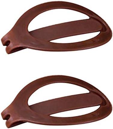 chiwanji 2ピース/個ガールズレディースヘアスタイルヘアドーナツパンメーカープラスチックバレッタクリップ - ブラック
