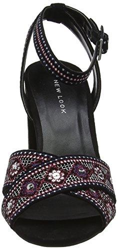 con Black Nero Tapas New Cinturino Caviglia Donna alla Look 1 Scarpe qtwz7