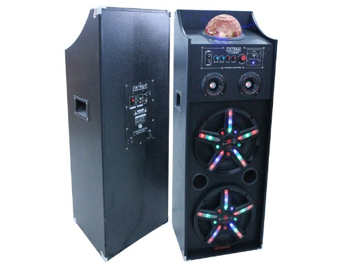 Patron Audio Pro Pls 2000Mp3 Dual 10 Inch Speaker System With Sd Usb Reader