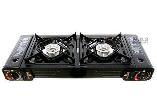 - Ematik Stove Portable Dual 2 Burner Outdoor Camping Tailgate Double Stoves
