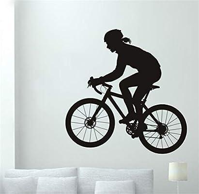 pegatina de pared frases Mujer pegatina de bicicleta bicicleta ...