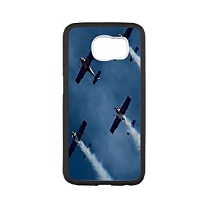 Vinceryshop Plane Samsung Galaxy S6 Case Flying Bulls Protective for Girls, Samsung Galaxy S 6 Case, {White}