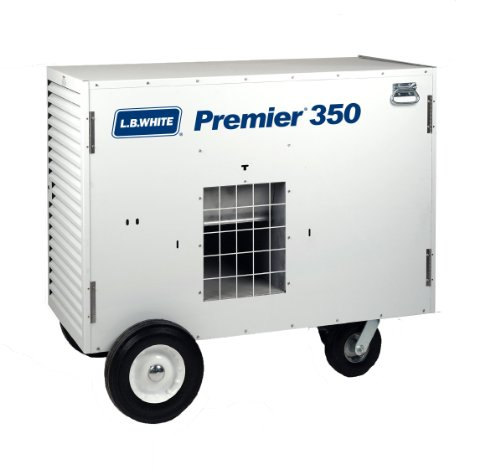 L.B. White TS350 Premier 350DF Portable Forced Air Ductable Dual Fuel Construction Heater, 350,000 Btuh
